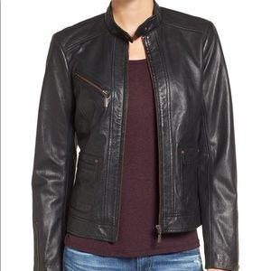 Bernardo Women's Black Leather Jacket, size small